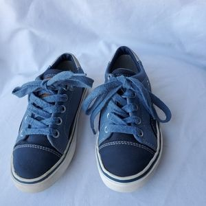 Zara Kids Navy/Blue Canvas/Leather Sneaker in 30EU